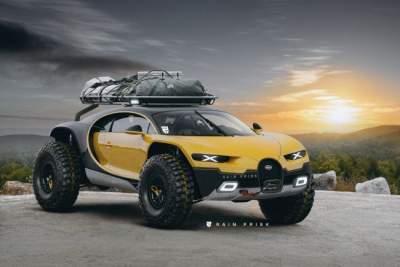 Bugatti превратили в полноценный внедорожник