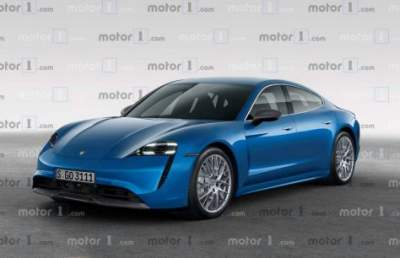 Появились рендерные изображения Porsche Taycan